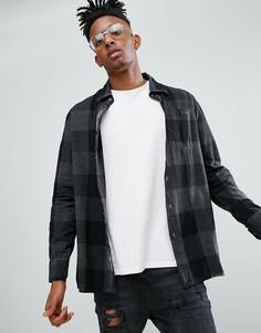 Окрашенная рубашка в клетку Dr Martens - Черный