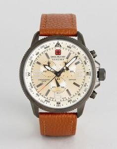 Часы с коричневым кожаным ремешком Swiss Military - Коричневый