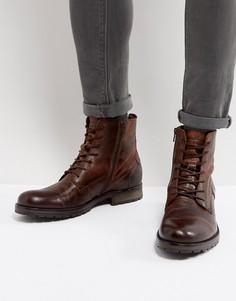 Кожаные ботинки на шнуровке Jack & Jones Orca - Коричневый
