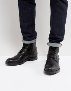 Черные кожаные ботинки с теплой подкладкой Jack & Jones Marly - Черный