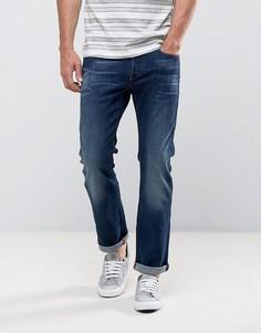 Прямые джинсы с эффектом поношенности G-Star 3301 - Синий