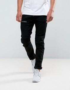 Темные узкие джинсы с молнией G-Star 5620 3D - Синий