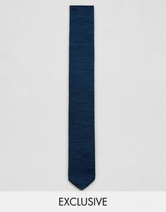 Трикотажный галстук в диагональную полоску Heart & Dagger - Черный