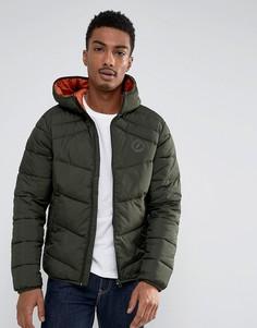 Стеганая куртка с капюшоном Jack & Jones Originals - Зеленый