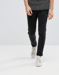Черные джинсы скинни с эффектом кислотной стирки Dr Denim - Черный