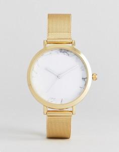 Часы с золотистым сетчатым ремешком ASOS - Золотой