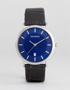Часы с темно-синим кожаным ремешком Sekonda эксклюзивно для ASOS - Темно-синий
