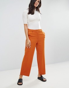 Широкие брюки Monki - Оранжевый