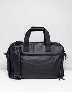 Черная кожаная сумка Eastpak Dokit - Черный