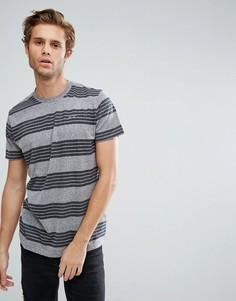 Серая облегающая футболка с круглым вырезом Hollister - Серый