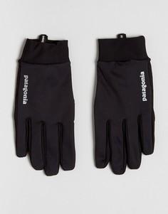 Черные ветрозащитные перчатки Patagonia - Черный