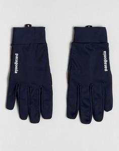 Темно-синие ветрозащитные перчатки Patagonia - Темно-синий