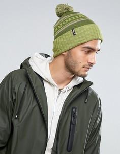 Зеленая шапка-бини с помпоном Patagonia - Зеленый