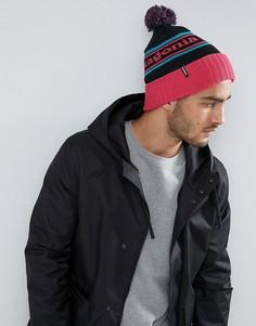 Розовая шапка-бини с помпоном Patagonia Powder Town - Розовый