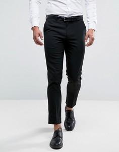 Черные укороченные брюки скинни River Island - Черный
