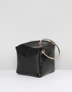 Лакированный клатч с ручками ASOS - Черный