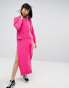 Платье-рубашка миди ASOS WHITE - Розовый