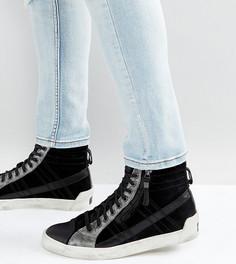 Кожаные кроссовки с петелькой Diesel - Черный