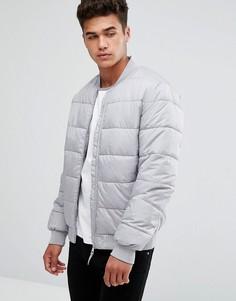 Серая дутая куртка Kiomi - Серый