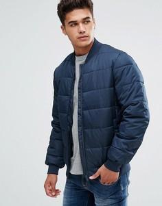 Темно-синяя дутая куртка Kiomi - Темно-синий