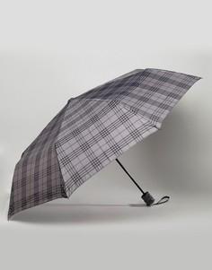 Серый зонт в клетку Peter Werth - Серый