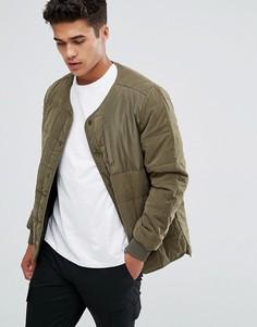 Стеганая куртка без воротника Kiomi - Зеленый