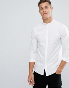 Белая длинная рубашка с воротником на пуговицах Kiomi - Белый