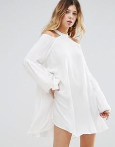 Платье с круглым вырезом Free People - Белый