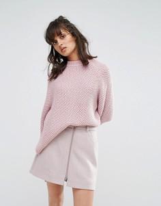 Вязаный джемпер Weekday - Розовый