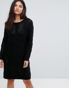 Платье-джемпер крупной вязки QED London - Черный