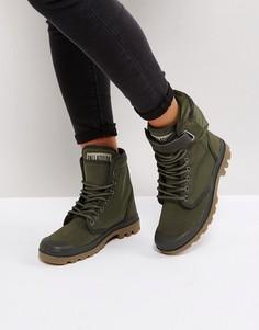 Ботинки цвета хаки Palladium Solid Ranger - Зеленый