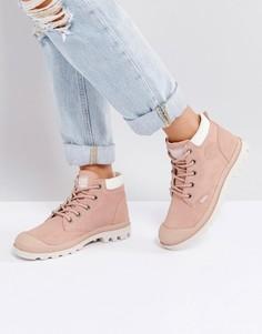 Низкие замшевые ботинки розового цвета Palladium Pampa - Розовый