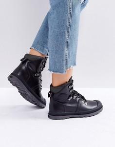 Черные кожаные походные ботинки Palladium - Черный