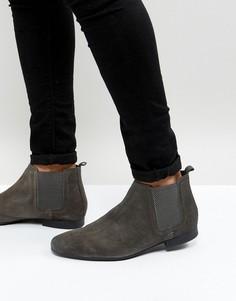 Серые замшевые ботинки челси River Island - Серый