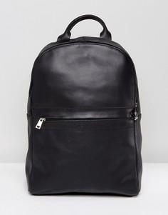 Черный кожаный рюкзак Kiomi - Черный