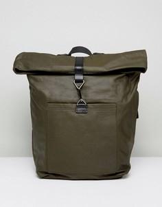Рюкзак с кожаной отделкой Kiomi - Зеленый