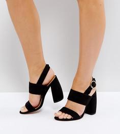 Босоножки на каблуке для широкой стопы ASOS HEALEY - Черный
