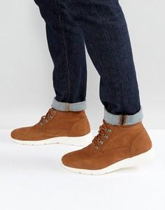 Светло-коричневые ботинки на контрастной подошве ASOS - Рыжий