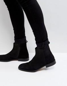 Замшевые ботинки с молнией Zign - Черный