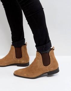 Замшевые ботинки челси коньячного цвета Zign - Коричневый
