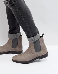 Серые замшевые ботинки челси Zign - Серый