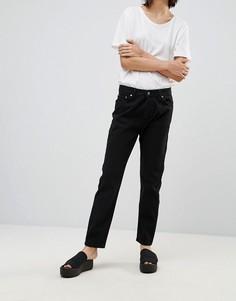 Прямые джинсы с завышенной талией Dr Denim - Черный