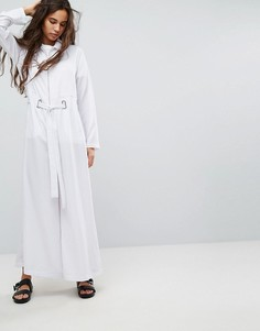 Комбинезон с широкими штанинами и люверсами Hanger - Белый