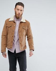Выбеленная куртка из искусственной цигейки Wrangler Bison - Рыжий