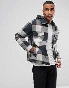 Фланелевая куртка со съемным капюшоном Brixton Casburn - Серый