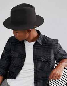 Мягкая фетровая шляпа Brixton - Черный