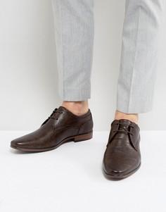 Темно-коричневые туфли дерби с острым носком River Island - Коричневый