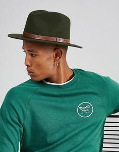 Мягкая фетровая шляпа Brixton Messer - Зеленый
