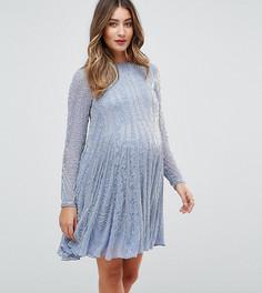 Приталенное платье для беременных ASOS Maternity - Синий