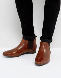 Светло-коричневые кожаные ботинки челси River Island - Рыжий